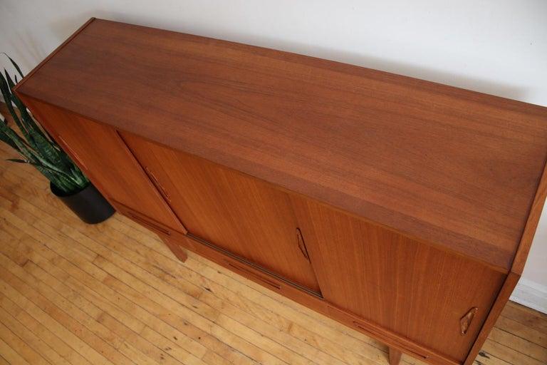 Mid-Century Modern Scandinavian Teak Highboard For Sale 13