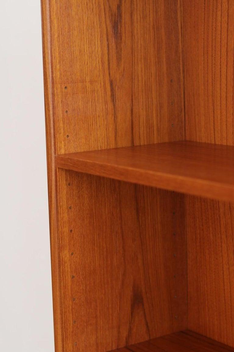 Midcentury Danish Modern Slim Teak Hutch For Sale 10