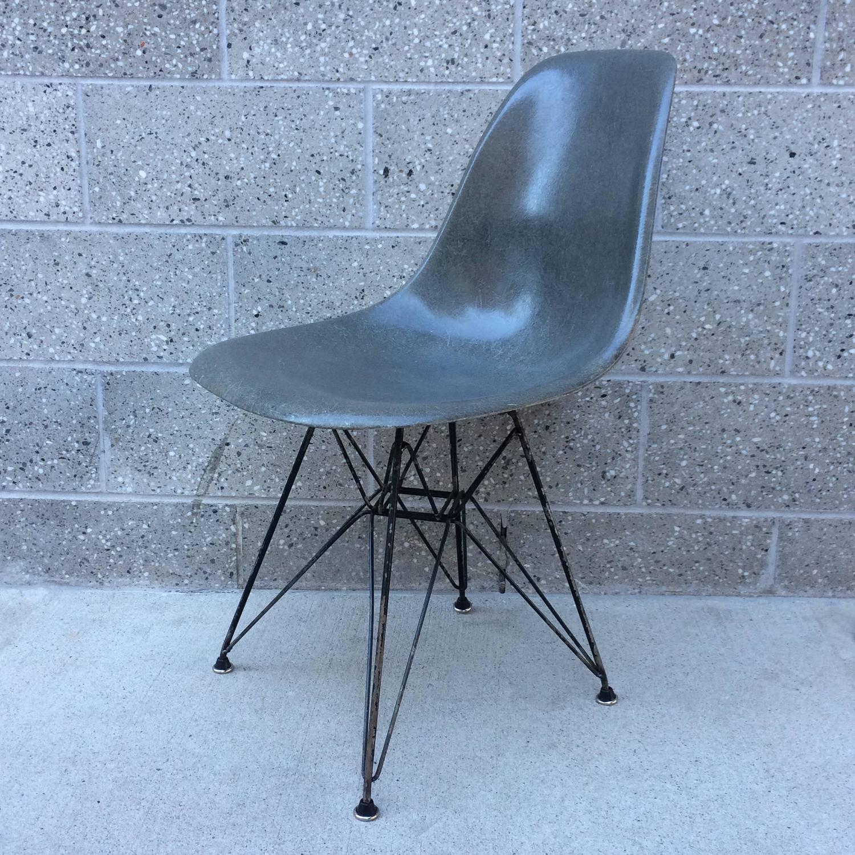 herman miller eames elephant hide grey dsr chair for sale. Black Bedroom Furniture Sets. Home Design Ideas