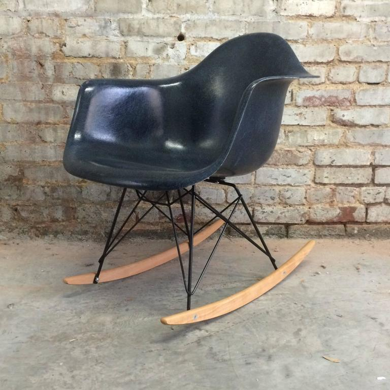 American Navy Blue Herman Miller Eames RAR For Sale