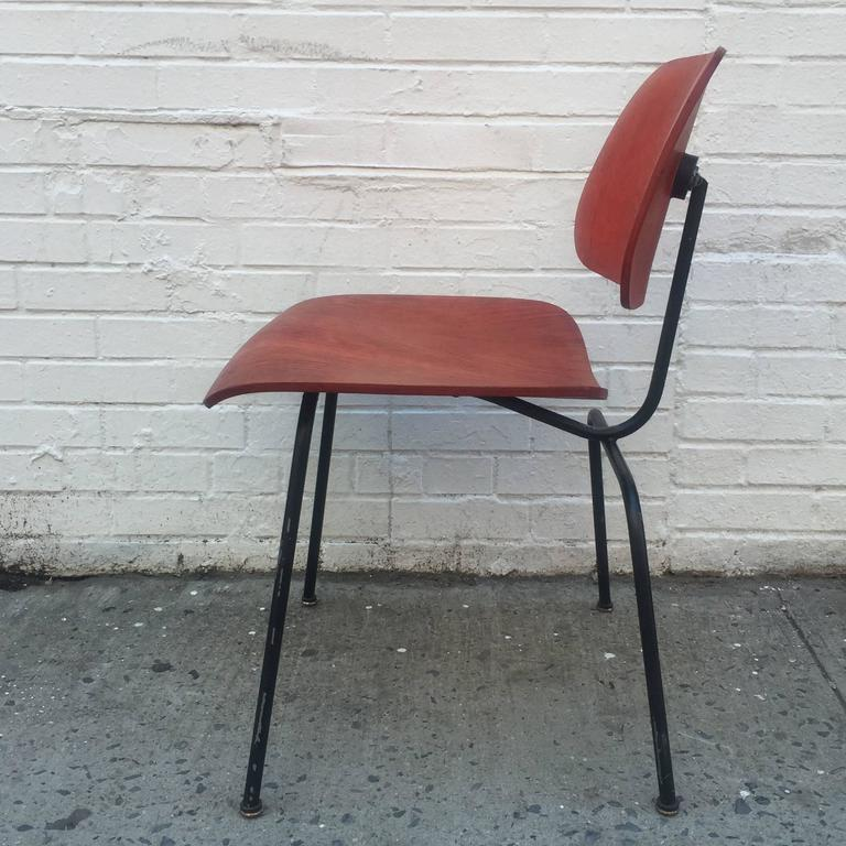 American Early Herman Miller Red DCM For Sale
