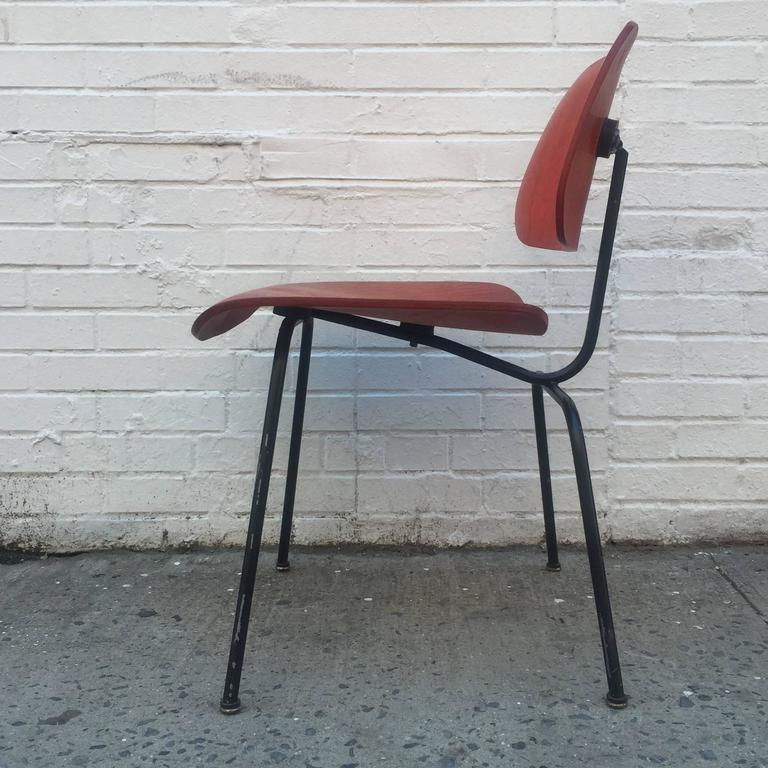 Mid-Century Modern Early Herman Miller Red DCM For Sale