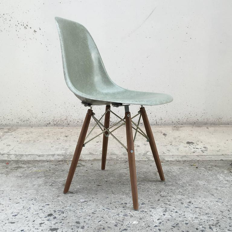Remarkable Four Herman Miller Eames Seafoam Dining Chairs Interior Design Ideas Ghosoteloinfo