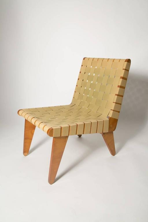 Mid-Century Modern Klause Grabe Architect Built Strap Lounge Chair For Sale