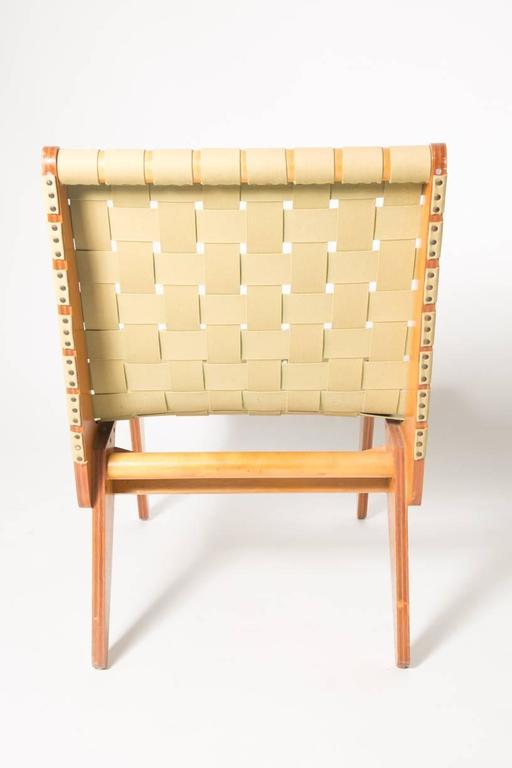 Klause Grabe Architect Built Strap Lounge Chair For Sale 2