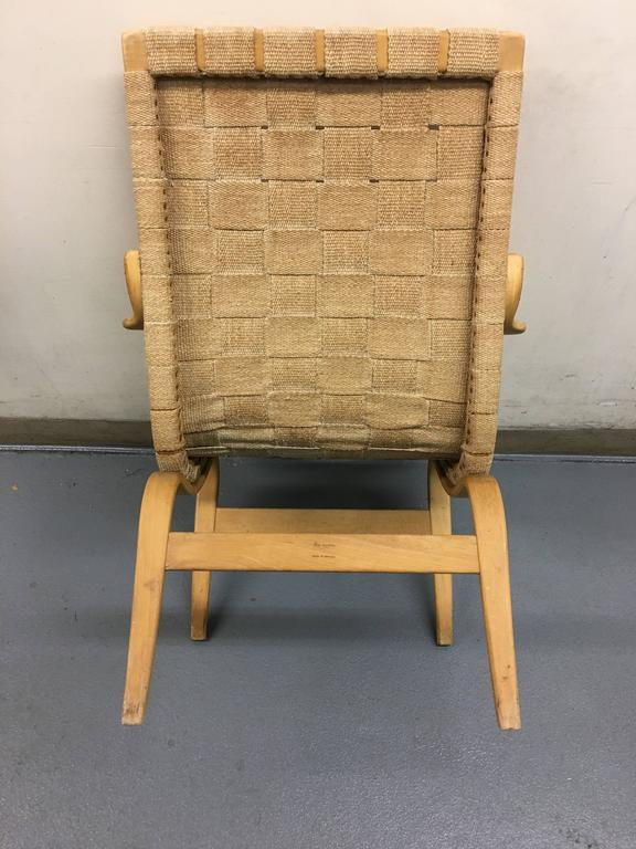 Swedish Eva Lounge Chair by Bruno Mathsson for DUX For Sale
