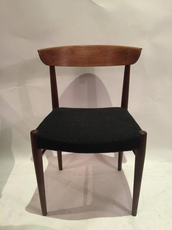 Corner Chair W Teak Frame & Short Curved Legs Monterey Air Blue