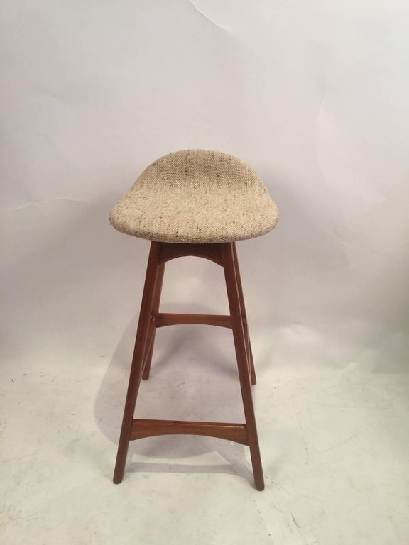 Erik Buck Counter Height Bar Stool with Woollen Seat 4