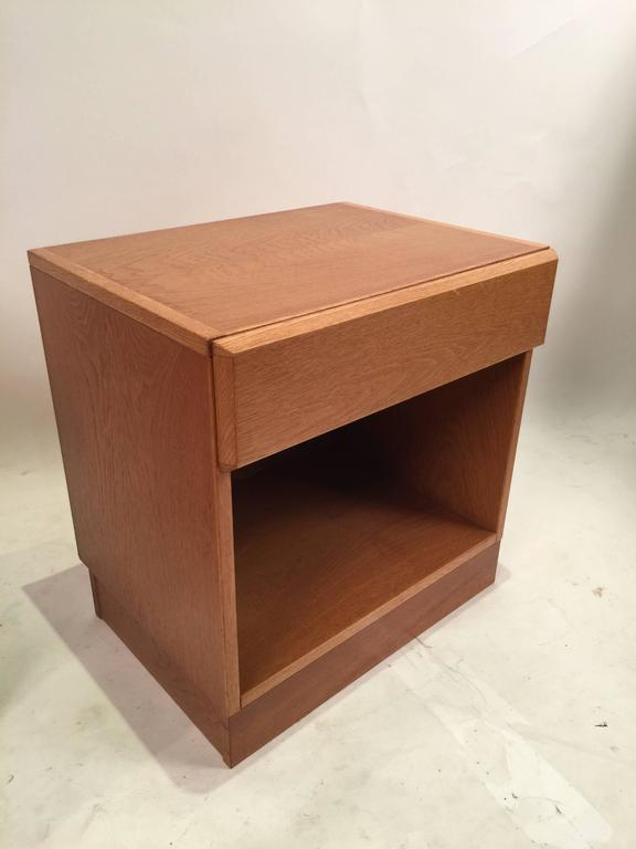 Two Vitr Danish Teak Nightstands At 1stdibs