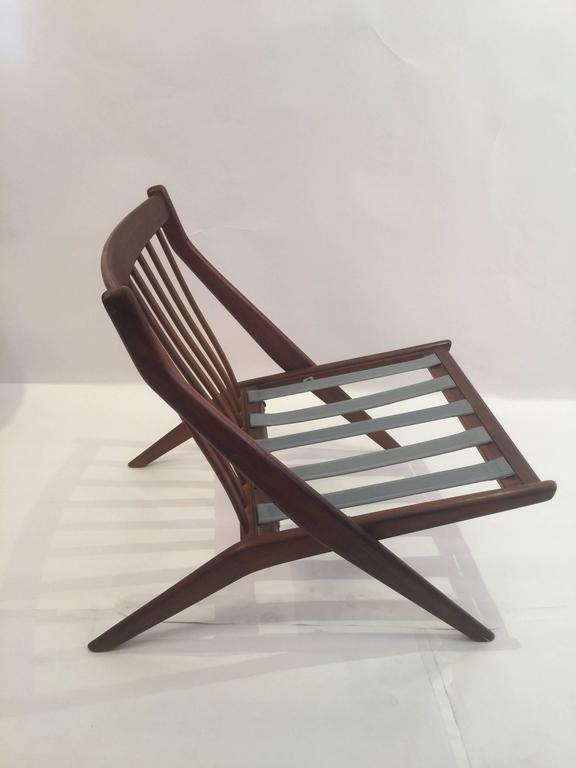 Pair of Folke Olhsson DUX Scissor Chairs In Excellent Condition For Sale In Brooklyn, NY