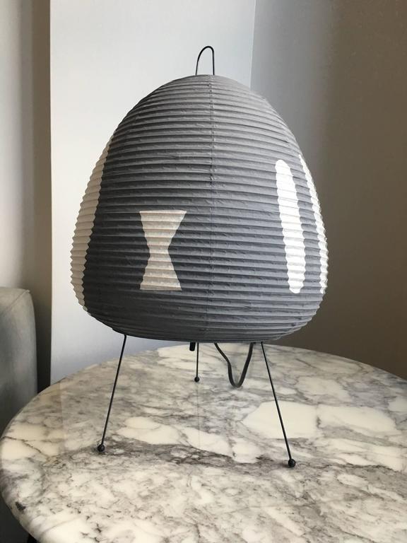 Labeled Isamu Noguchi Akari Paper Table Lamp at 1stdibs