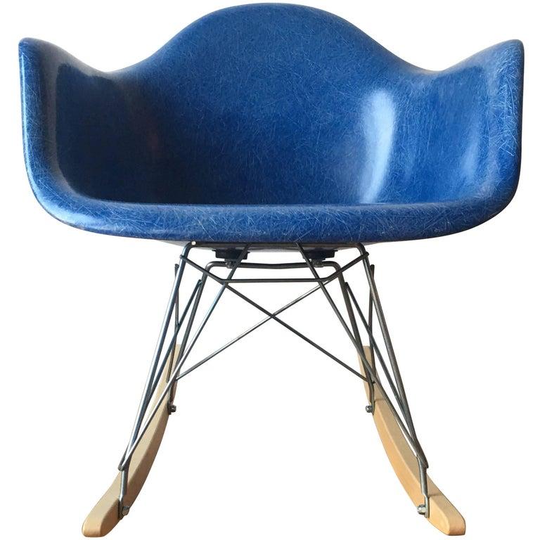 Herman Miller Eames RAR Rocking Chair in Blue