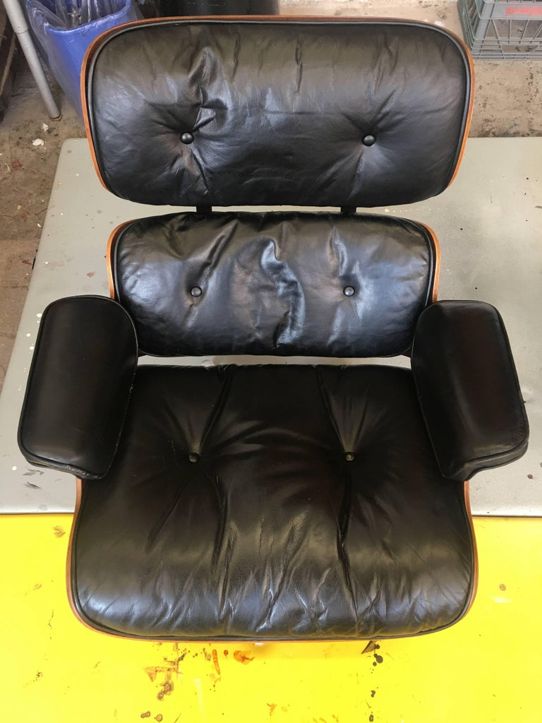 Pleasant Rare 1St Year 1956 Eames Lounge With Spinning Ottoman Lamtechconsult Wood Chair Design Ideas Lamtechconsultcom