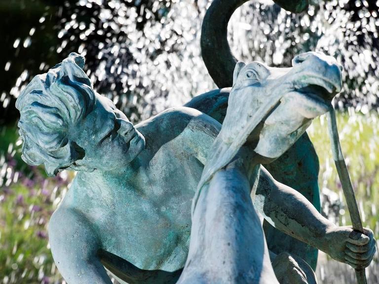 Italian Fountain, Art Nouveau, Bronze Sculpture For Sale