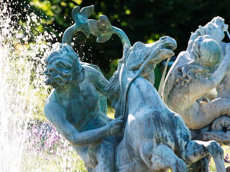 19th Century Fountain, Art Nouveau, Bronze Sculpture For Sale