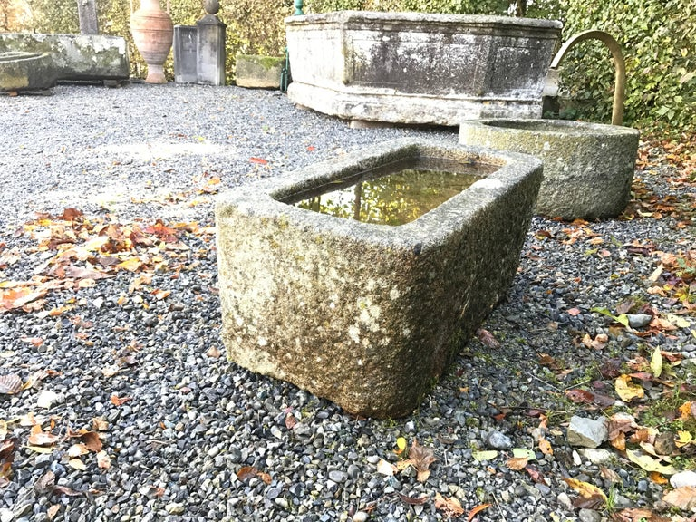 Small fountain in granite. Water tab is new made. The fountain is waterproof. Spouter is available with Euro 450.