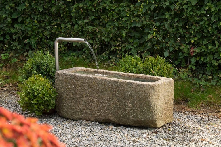 Carved Fountain in Granite For Sale