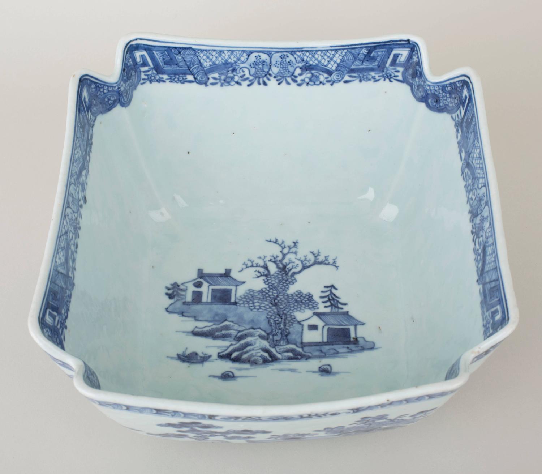 Chinese Export Porcelain Underglaze Blue And White Salad