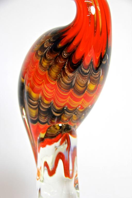 In this selection we are offering you eight properly selected Murano glass art pieces in absolute excellent quality. Every collector will know what we are talking about!  This big fantastic Murano glass art flamingo is the third piece of our rare
