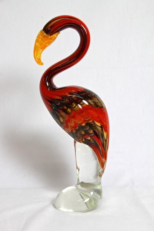 Fantastic Murano Glass Art Flamingo, Italy For Sale 2