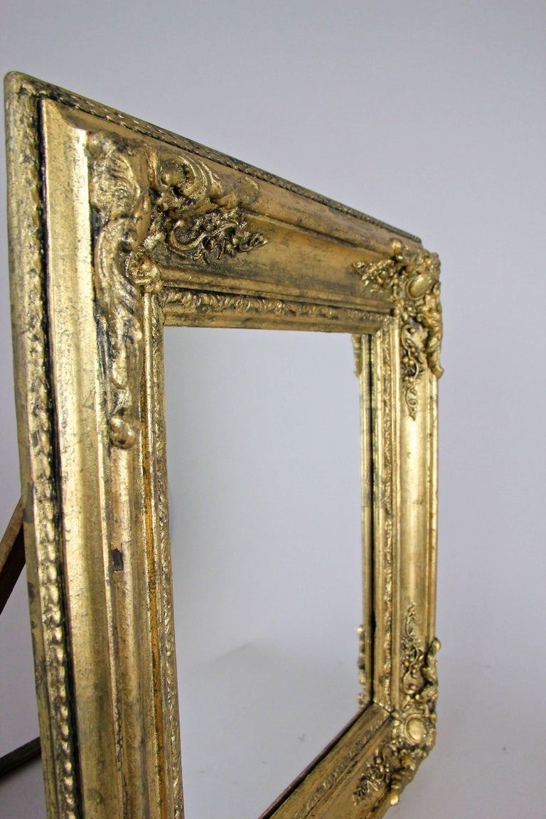 French wall mirror table mirror composition gold france for Wall table with mirror