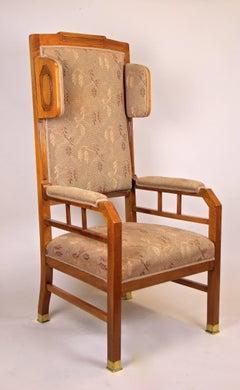 Art Nouveau Wing Chair, Austria circa 1905