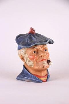 "Tobacco Box Terracotta ""The Sailor"", marked circa 1920"