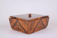 Art Deco Wooden Box Burr Walnut, Austria circa 1925