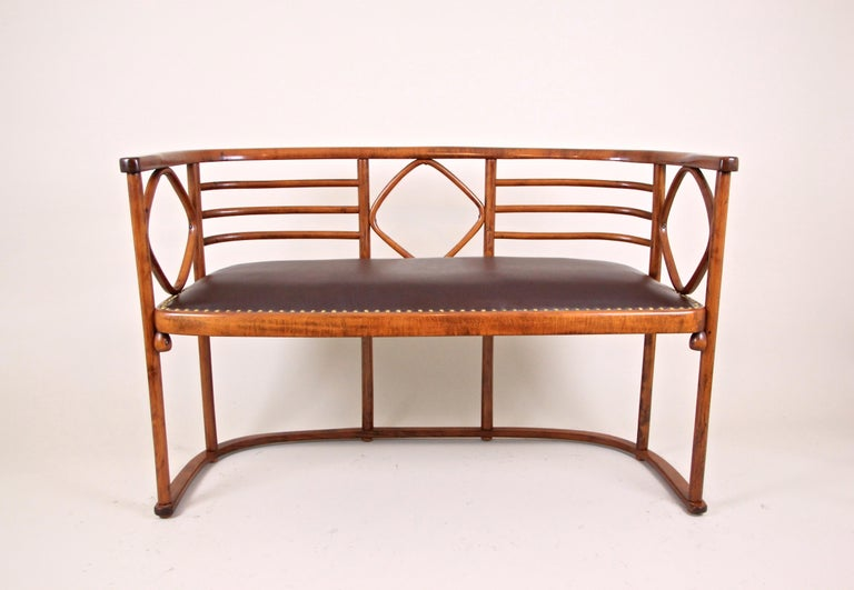 Art Nouveau Bentwood Seating Set Attributed to Thonet/ Josef Hoffmann, Austria, circa 1910 For Sale