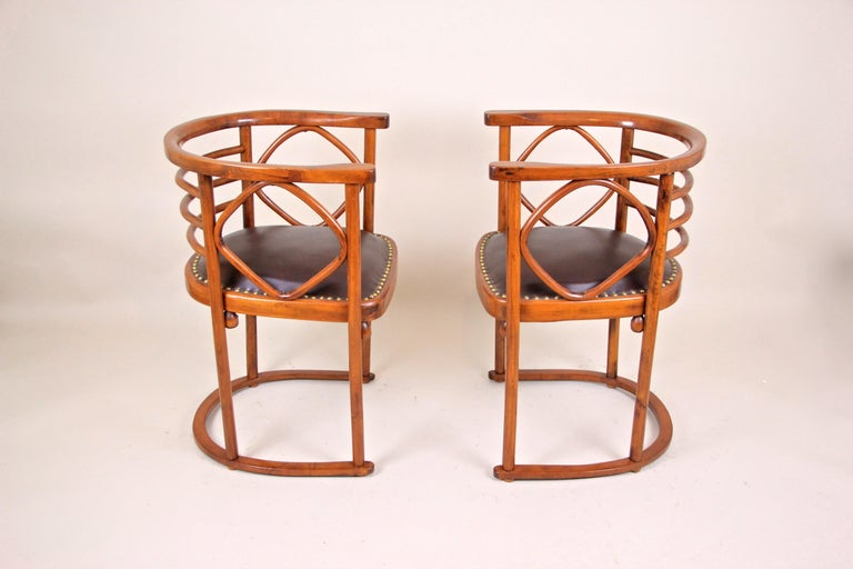 Bentwood Seating Set Attributed to Thonet/ Josef Hoffmann, Austria, circa 1910 For Sale 5