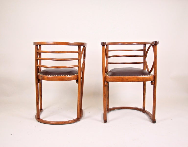 Bentwood Seating Set Attributed to Thonet/ Josef Hoffmann, Austria, circa 1910 For Sale 6