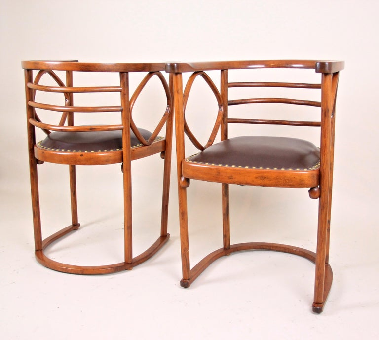 Bentwood Seating Set Attributed to Thonet/ Josef Hoffmann, Austria, circa 1910 For Sale 7