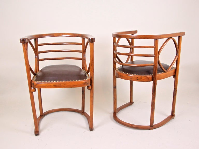 Bentwood Seating Set Attributed to Thonet/ Josef Hoffmann, Austria, circa 1910 For Sale 8