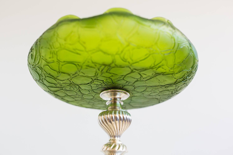 Gorgeous art nouveau centerpiece glass bowl circa at