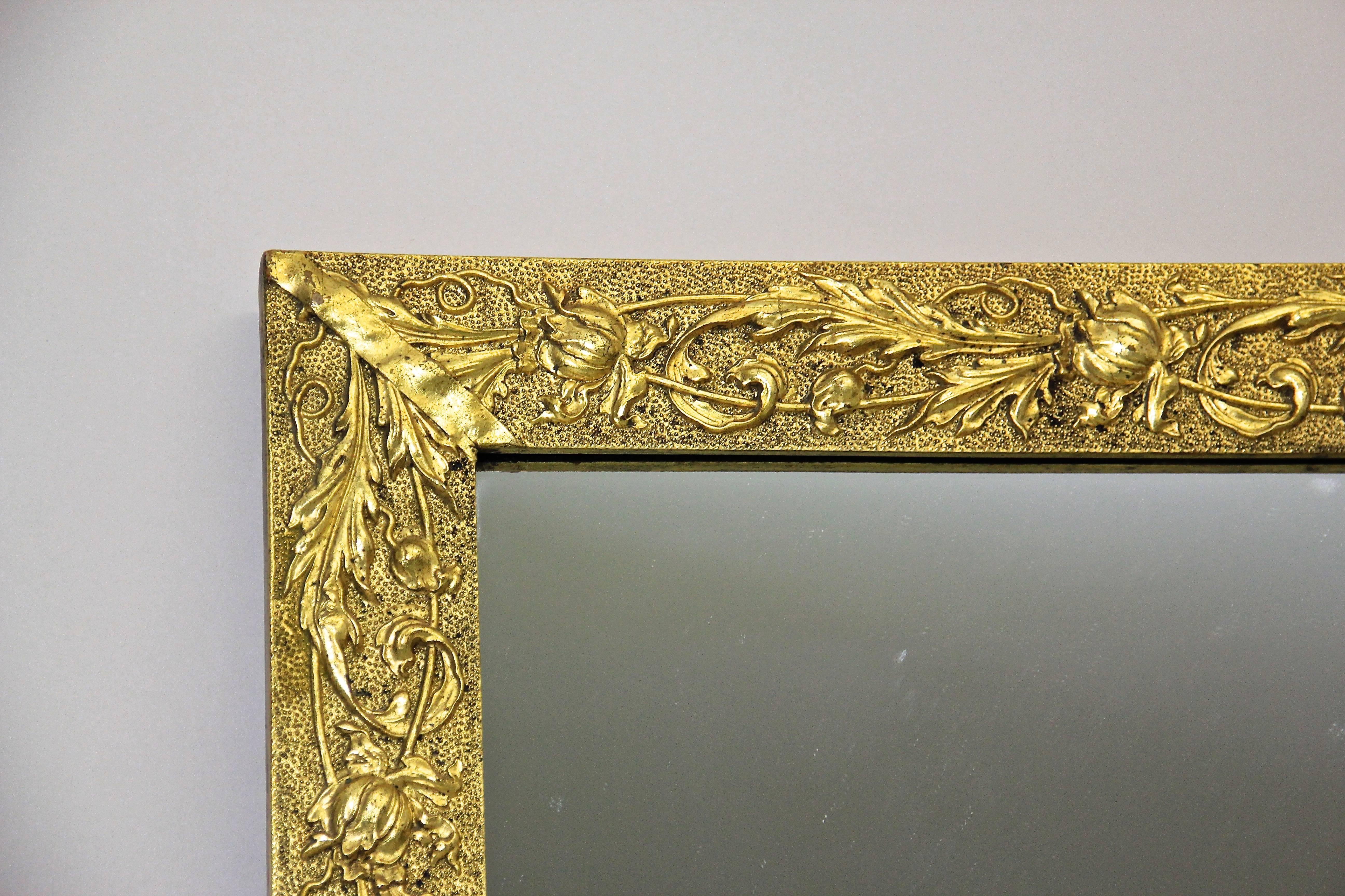 Golden Art Nouveau Mirror, Austria circa 1910 For Sale at 1stdibs