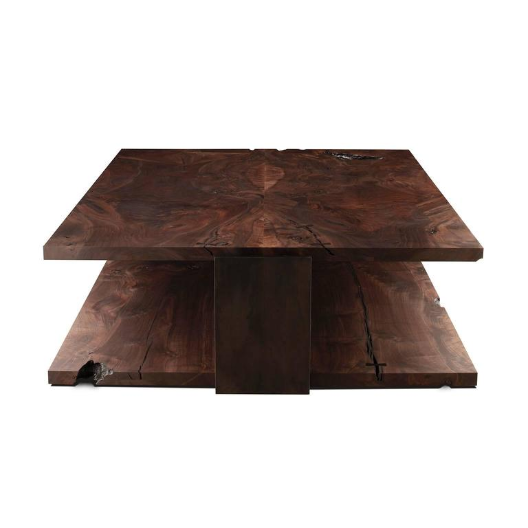 Shadow Coffee Table in Smoked Walnut and Blackened Steel by Studio Roeper  7