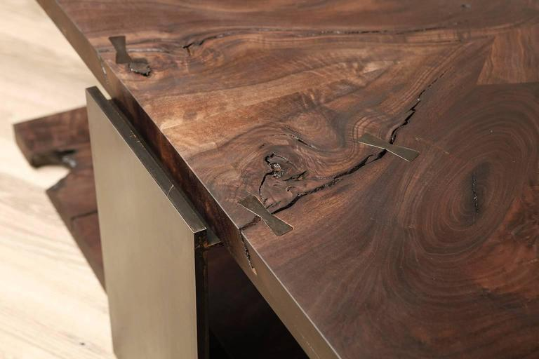 Shadow Coffee Table in Smoked Walnut and Blackened Steel by Studio Roeper  4
