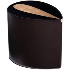 Candy Side Table in Bronze Leaf, Lacquer and Leather by Studio Roeper