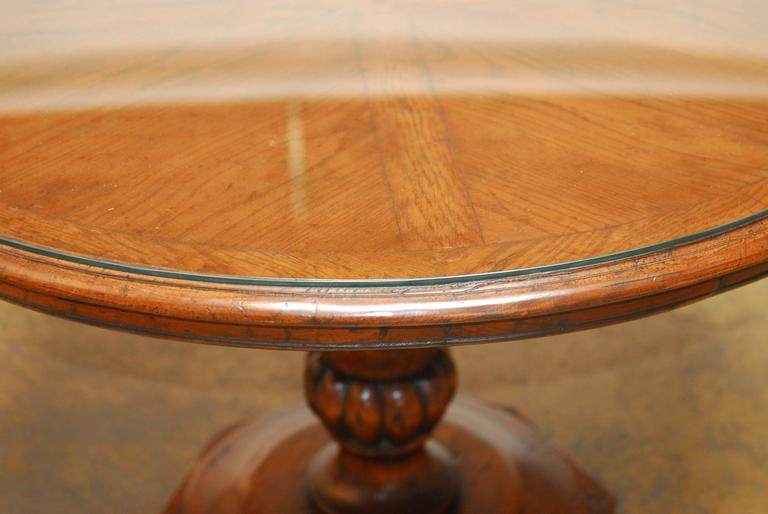 Bon Country English Style Pedestal Table By Guy Chaddock From His