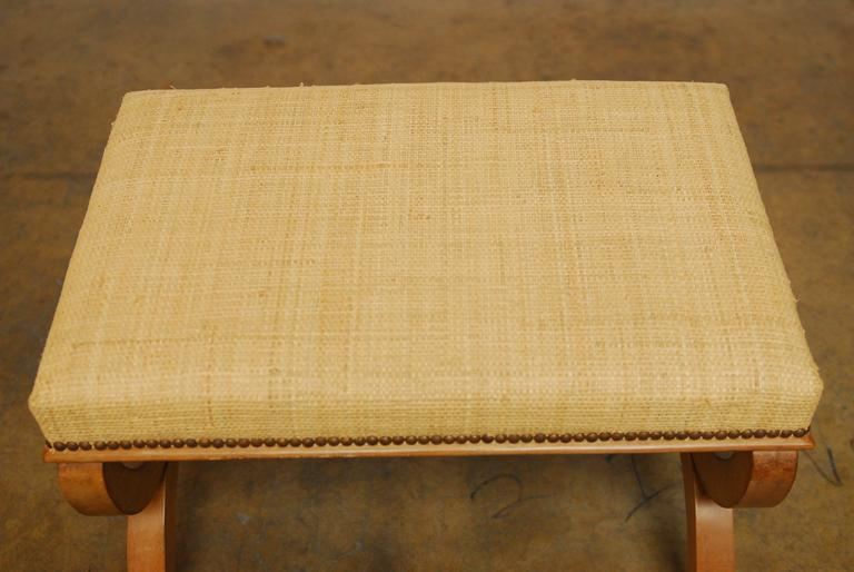 Curule Seagrass Bench At 1stdibs