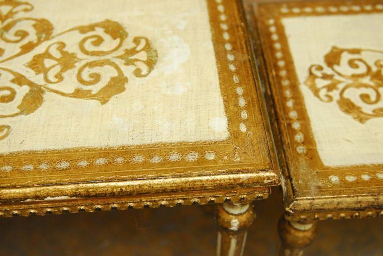 Gilt Set of Three Florentine Nesting Tables