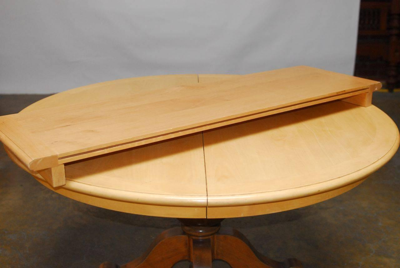 round pedestal dining table for sale at 1stdibs