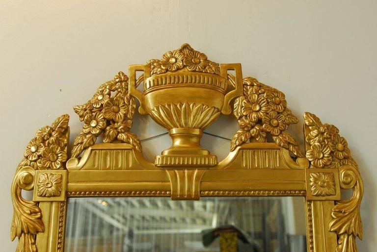 Wood French Regency Louis XVI Style Mirror For Sale