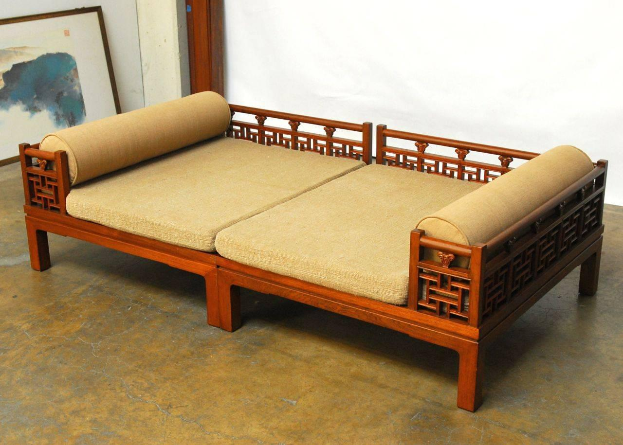 chinese carved luohan daybed for sale at 1stdibs. Black Bedroom Furniture Sets. Home Design Ideas