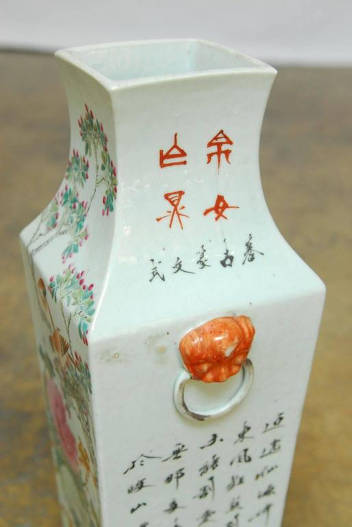 Chinese Republic Porcelain Qing Style Painted Vase At 1stdibs