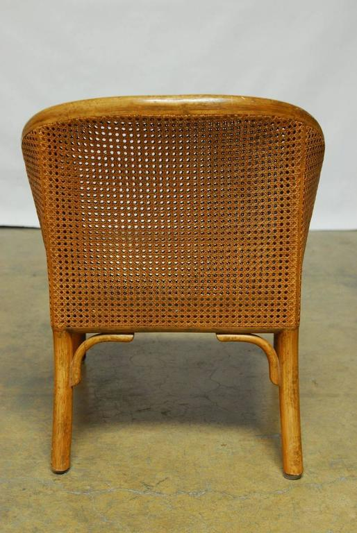 Set Of Three Mcguire Cane Back Bamboo Armchairs At 1stdibs