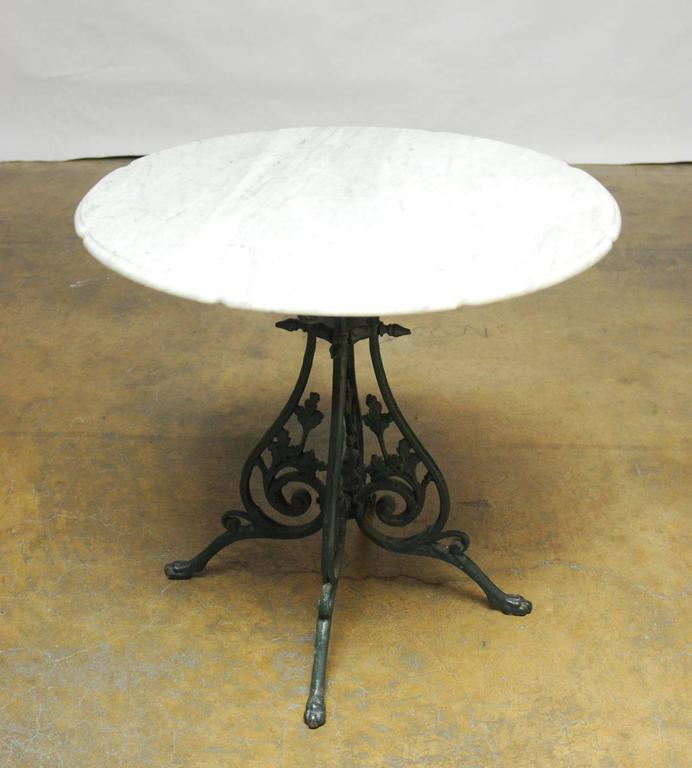 French Art Nouveau Marble Top Bistro Table For Sale At 1stdibs