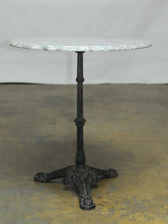 Art Nouveau French Parisian Marble-Top Bistro Table