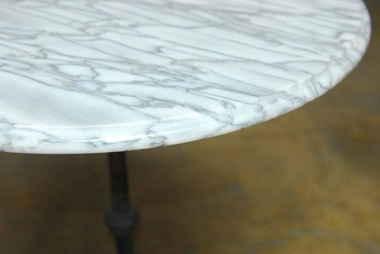 20th Century French Parisian Marble-Top Bistro Table