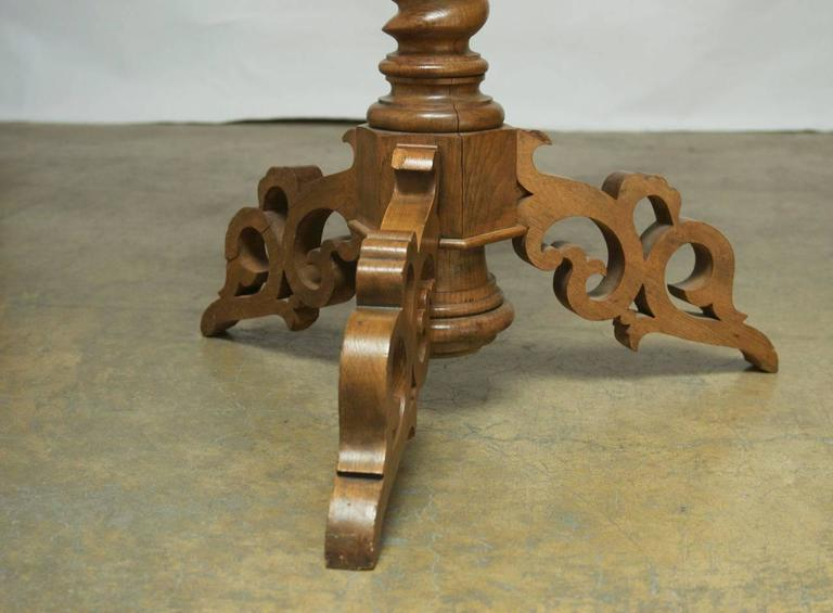 Hand-Carved Monumental Italian Carved Oak Lectern Book Stand For Sale